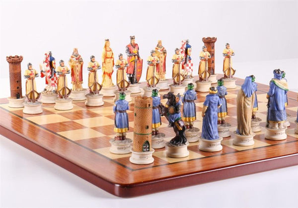 Richard The Lionheart Padauk Board Set - Chess Set - Chess-House