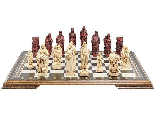 Robin Hood Chess Pieces - SAC Antiqued
