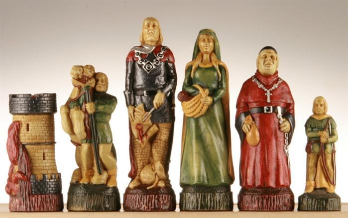 Robin Hood Chess Pieces - SAC Hand Decorated