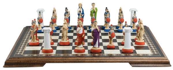 Roman - Hand Painted - Piece - Chess-House