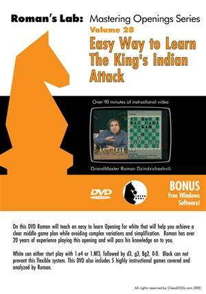 Roman's Lab #28, Easy Way to Learn The King's Indian Attack - Software DVD - Chess-House