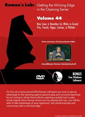 Roman's Lab #44: New Lines & Novelties for White - Software DVD - Chess-House