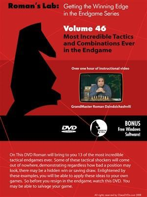 Roman's Lab #46: Incredible Tactics and Combinations Ever in the Endgame - Software DVD - Chess-House