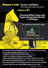 Roman's Lab #91 - Practical Killer Traps and Super Sharp Lines for the 1.e4 Player - Software DVD - Chess-House