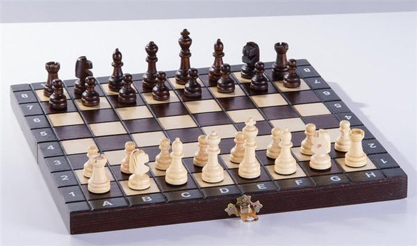 "School Chess - 10.5"" Wood Chess Set - Chess Set - Chess-House"
