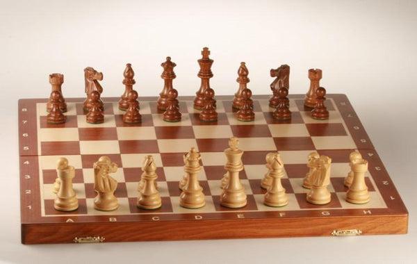 "SCRATCH & DENT: 20"" Tournament No 6 Chess Set with Shisham 3 3/4"" pieces"