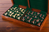"SCRATCH & DENT: Large 18"" Folding Magnetic Rosewood/Maple Chess Set in Leatherette Case"