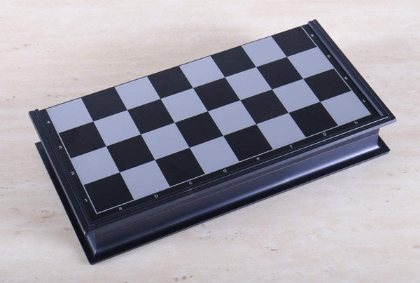 SCRATCH & DENT: Magnetic Folding Travel Chess & Checker Set - Small Garage Sale