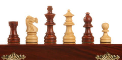 "SINGLE REPLACEMENT PIECES: 10"" Magnetic Folding Chess Set in Blood Rosewood & White Maple Piece"