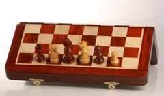 "SINGLE REPLACEMENT PIECES: 12"" Magnetic Folding Chess Set in Blood Rosewood/Maple Piece"