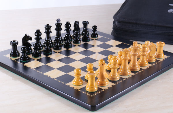"SINGLE REPLACEMENT PIECES: 12"" Magnetic Travel Chess Set in Black and Boxwood - Piece - Chess-House"