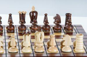 "SINGLE REPLACEMENT PIECES: 13"" Mini Royal Wooden Chess Set Piece"