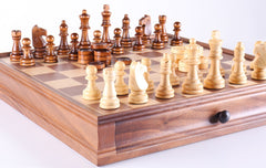 "SINGLE REPLACEMENT PIECES: 15"" Wooden Chess/Checker Set - Parts - Chess-House"