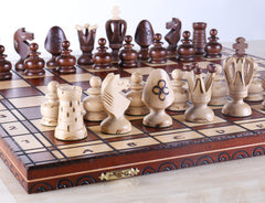 "SINGLE REPLACEMENT PIECES: 19"" Royal King's Wood Chess Set Piece"