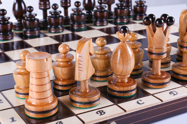 "SINGLE REPLACEMENT PIECES: 20"" Large King's Inlaid Chess Set Piece"