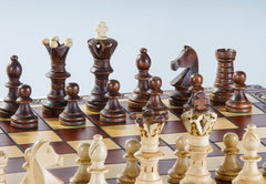 "SINGLE REPLACEMENT PIECES: 21"" Ambassador Wooden Chess Set Piece"