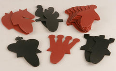 "SINGLE REPLACEMENT PIECES: 27"" Vinyl Slot-in Style Demo Board Pieces, Red and Black Piece"