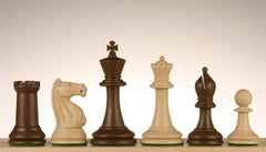 "SINGLE REPLACEMENT PIECES: 3 3/4"" Emisario Player Chess Pieces - Brown and Sandal - Piece - Chess-House"