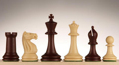 "SINGLE REPLACEMENT PIECES: 3 3/4"" Emisario Player Chess Pieces - Burgundy and Tan"