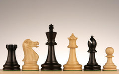 "SINGLE REPLACEMENT PIECES: 3 3/4"" Executive Staunton Ebonized Wood Chess Pieces Piece"