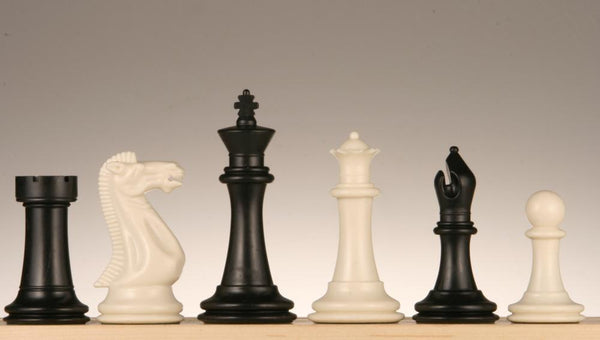 "SINGLE REPLACEMENT PIECES: 3 3/4"" Executive Staunton II Chess Pieces, Black and White Piece"