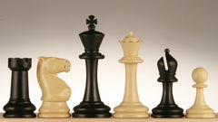 "SINGLE REPLACEMENT PIECES: 3 3/4"" Plastic Staunton Club Chess Pieces - Black and Tan Piece"
