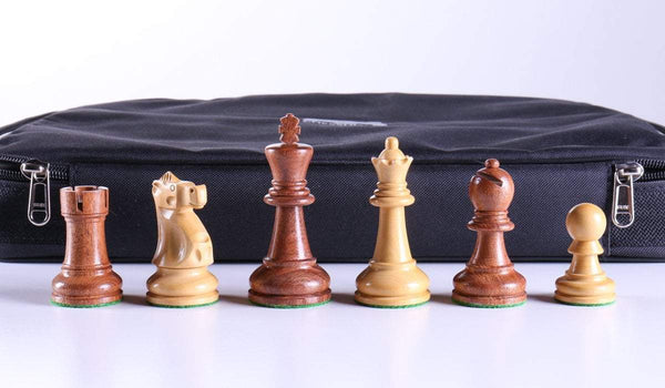 "SINGLE REPLACEMENT PIECES: 3 5/8"" Ultimate Style Wooden Chess Pieces - Babul Piece"