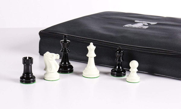 "SINGLE REPLACEMENT PIECES: 3 5/8"" Ultimate Style Wooden Chess Pieces - Ebonized and White Piece"