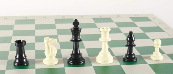 "SINGLE REPLACEMENT PIECES: 3"" Plastic Club Chess Pieces Piece"