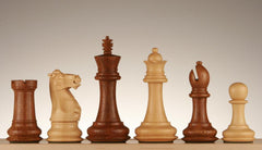 "SINGLE REPLACEMENT PIECES: 4 1/4"" Windsor Staunton Chess Pieces - Golden Rosewood Piece"