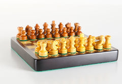 "SINGLE REPLACEMENT PIECES: 4"" Mini Magnetic Wood Travel Chess Set Piece"