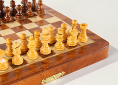"SINGLE REPLACEMENT PIECES: 5 1/2"" Magnetic Folding Chess Set in Golden Rosewood & Maple Piece"