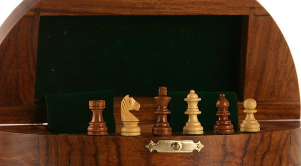 "SINGLE REPLACEMENT PIECES: 5"" Magnetic Wood Square Travel Chess Set Piece"