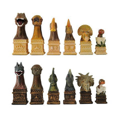 SINGLE REPLACEMENT PIECES: Dinosaur Chessmen - Parts - Chess-House