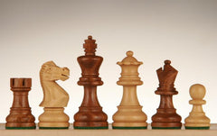 "SINGLE REPLACEMENT PIECES: English Staunton Chessmen - Weighted & Handpolished Wood - 2 1/2"" Piece"