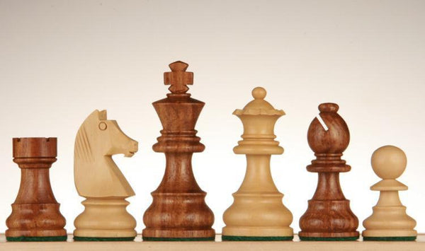 "SINGLE REPLACEMENT PIECES: French Staunton Chessmen - Sheesham / Kari Wood - 3"" Piece"
