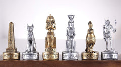 SINGLE REPLACEMENT PIECES: Gold and Silver Egyptian Chess Set Parts