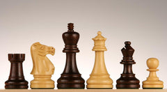"SINGLE REPLACEMENT PIECES: Grand King Staunton Chess Pieces in Rosewood/Boxwood - 3 3/4"" Piece"