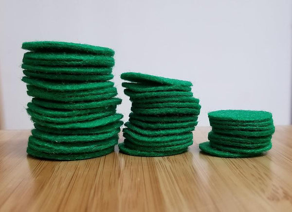 SINGLE REPLACEMENT PIECES: Green Felt Pads Piece