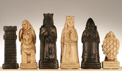 SINGLE REPLACEMENT PIECES: House of Hauteville Chessmen - Antique White and Black Marble Resin Piece