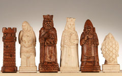 SINGLE REPLACEMENT PIECES: House of Hauteville Chessmen - Antique White and Brown Marble Resin Piece
