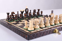 "SINGLE REPLACEMENT PIECES: KINGS Wooden Chess Set, 11 1/4"" Square Piece"