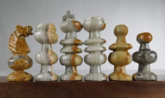 SINGLE REPLACEMENT PIECES: Mexican Onyx Pieces - Marble - Parts - Chess-House
