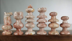 SINGLE REPLACEMENT PIECES: Mexican Onyx Pieces - Pink - Parts - Chess-House