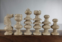 SINGLE REPLACEMENT PIECES: Mexican Onyx Pieces - Tan - Parts - Chess-House