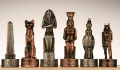 SINGLE REPLACEMENT PIECES: Pewter Egyptian Chessmen Piece