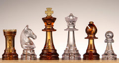 SINGLE REPLACEMENT PIECES: Plastic Chess Pieces No 6 - Amber - Piece - Chess-House