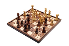 "SINGLE REPLACEMENT PIECES: Solid Wooden Chess Set for the Blind and Visually Impaired - 3.75"" King in Sheeshamwood and Boxwood - Parts - Chess-House"
