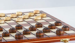 SINGLE REPLACEMENT PIECES: Wooden Checkers 100 squares, International Draughts Piece