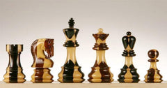 "SINGLE REPLACEMENT PIECES: Zagreb 4"" Inlaid Wood Chess Pieces Piece"